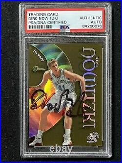 Signed 1998-99 E-x Century Dirk Nowitzki Rookie Card Psa/dna Auto Rc Mavericks