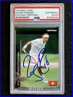 Signed 2003 Netpro Elite Roger Federer Autograph Rookie Card Psa/dna Rc Swiss Sp