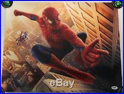 Signed Autographed Stan Lee 16x20 Marvel Spider-Man Photo PSA/DNA
