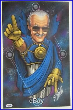 Stan Lee Signed Autographed Marvel Comics 11x17 Print Psa/dna #ae41636