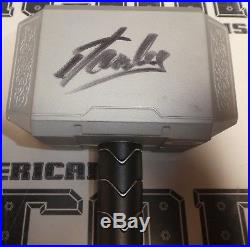 Stan Lee Signed Marvel THOR Toy Hammer PSA/DNA COA Autograph Avengers Comic Book