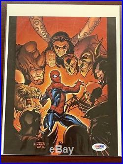 Stan Lee Signed Spider Man Vs Villians Photo Authentic Psa/Dna Autograph