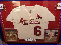 Stan Musial HOF Signed Autographed Framed Jersey PSA/DNA Authenticated Jersey