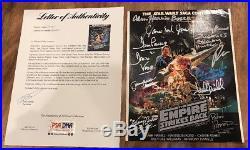 Star Wars Empire Strikes Back Signed 8x10 MARK HAMILL +11 Autographs PSA/DNA