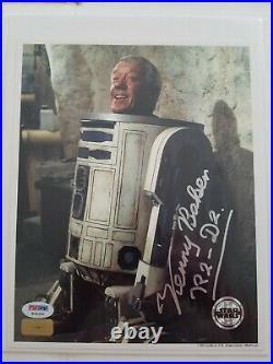 Star Wars Kenny Baker R2-D2 Signed Autographed 8x10 Super Rare Photo! PSA/DNA