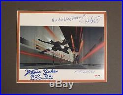 Star Wars Mark Hamill Kenny Baker & Ralph McQuarrie Autographed Photo PSA/DNA