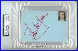 Steve McQueen Signed Autographed 4X6 Index Card 1967 Signature PSA/DNA Encased