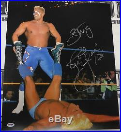 Sting & Ric Flair Signed WWE 16x20 Photo PSA/DNA COA Picture WCW Match Autograph