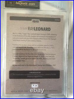 Sugar Ray Leonard 2016 The Bar Bgs 10 Pristine Psa/dna Autograph Auto 7a89095