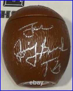 Superfly Jimmy Snuka Rowdy Roddy Piper Signed Coconut PSA/DNA COA WWE Autograph