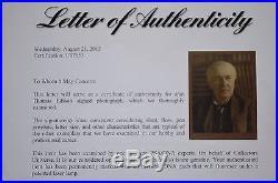 THOMAS EDISON GENIUS INVENTOR SIGNED 11x15 LARGE PHOTO PSA/DNA RARE