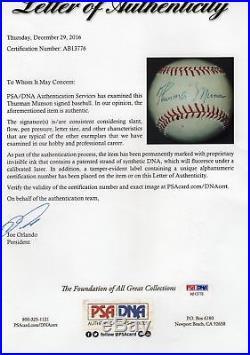 THURMAN MUNSON Single Signed/Autographed Sweet Spot Baseball Yankees PSA/DNA