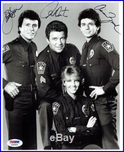TJ Hooker Cast (4) Signed Authentic Autographed 8x10 B/W Photo PSA/DNA #Z08505