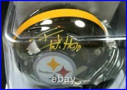TJ WATT Autographed / Signed Mini Helmet PSA/DNA Pittsburgh Steelers Wisconsin B