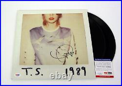 Taylor Swift Signed Autograph 1989 Vinyl Record Album PSA/DNA COA