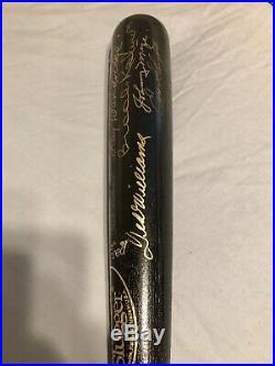 Ted Williams Brooks Robinson Autographed Baseball Bat Hall Of Famers PSA/DNA