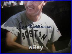 Ted Williams Signed Autograph Auto Baseball Photo Babe Ruth Framed COA PSA/DNA