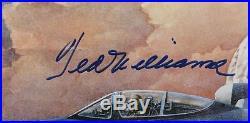 Ted Williams Signed Captain USMC Autographed L/E 26x21 Litho PSA/DNA #K73082