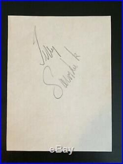 Terry Sawchuk Autograph (5 x 6 1/2 on paper) PSA / DNA Authentic