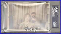The Beatles JOHN LENNON Signed Autographed Candid Photo Slabbed PSA/DNA & JSA