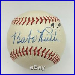 The Finest Babe Ruth Single Signed Autographed American League Baseball PSA/DNA