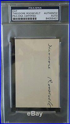Theodore Roosevelt signed autograph PSA/DNA authentic