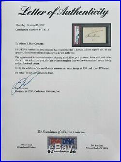 Thomas Edison Signed Autograph Psa/dna Authentic