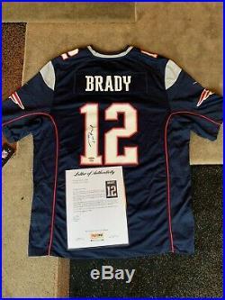 Tom Brady Autographed Jersey PSA DNA