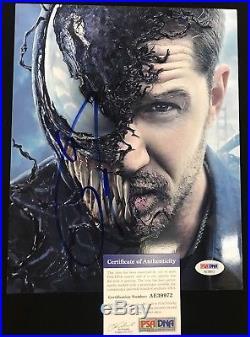 Tom Hardy Signed 8.5x11 Photo Dark Knight Bane Batman PSA/DNA Autographed Venom