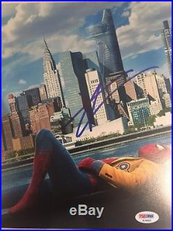 Tom Holland Signed Spiderman Authentic Autographed 8x10 Photo PSA/DNA