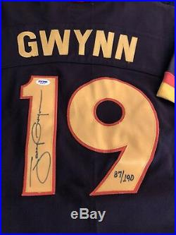 Tony Gwynn Vintage Brown 1982 Rookie Jersey Signed Autograph Auto Psa/dna Rare