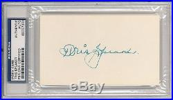Tris Speaker Signed Index Card Psa Dna Encapsulated! Beautiful Autograph Auto