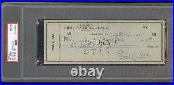 Ty Cobb Signed Bank Check Autograph PSA/DNA MINT 9 1957 Detroit Tigers HOF