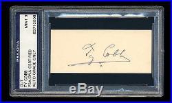 Ty Cobb Signed Cut Mint Psa/dna Slabbed Autographed Hof Tigers