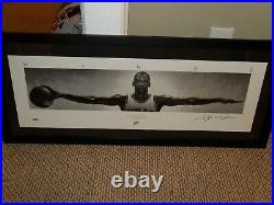 UDA Michael Jordan Autographed Wings Poster Ltd Ed. # 500 Size 41 x 17 withPSA/DNA