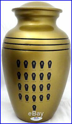 Undertaker Autographed Wwe Commemorative 21-0 Urn With Box Psa/dna Itp 162971