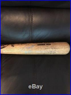 VLADIMIR GUERRERO Game Used Autographed Louisville Slugger BAT Expos PSA/DNA