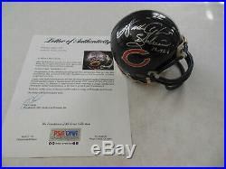 WALTER PAYTON Signed Autographed Chicago Bears Mini Helmet with PSA DNA COA