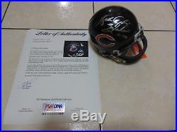 WALTER PAYTON Sweetness 16,726 Autograph Signed Bears Mini Helmet PSA/DNA COA