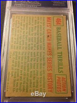 WILLIE MAYS SIGNED 1959 Topps BASEBALL CARD PSA/DNA AUTHENTIC AUTO The Catch HOF