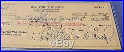 Walt Disney Signed Autograph Check 1961 Vintage Disneyland PSA DNA Phil Sears