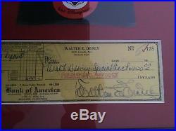 Walt Disney Signed Check Autograph Auto PSA/DNA Custom Display
