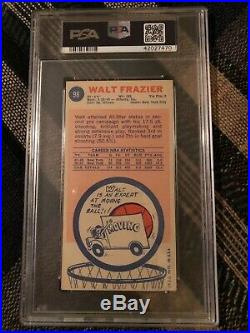 Walt Frazier Signed 1969 Topps #98 Autograph PSA/DNA 9 Rookie HOF NY Knicks