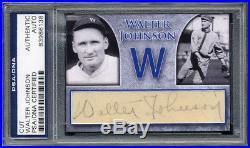 Walter Johnson Signed custom signature Cut card PSA/DNA autograph