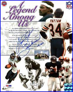 Walter Payton Autographed 8x10 Photo Bears Sweetness 16,726 Psa/dna 22530