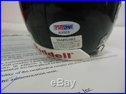 Walter Payton Autographed Signed Chicago Bears Mini Helmet PSA/DNA 2