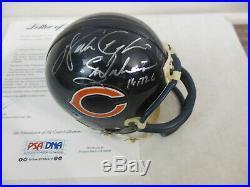 Walter Payton Signed Autographed Chicago Bears Mini Helmet PSA/DNA