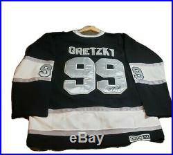 Wayne Gretzky Autographed LA Kings Jersey PSA/DNA CCM Vintage authentic