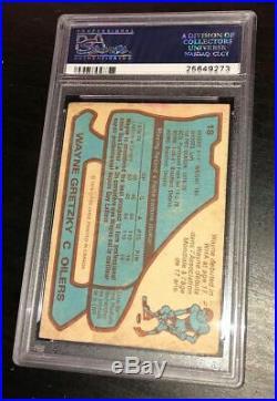 Wayne Gretzky Signed 1979 O-pee-chee Rookie Card Oilers Psa/dna Auto Slab Rc