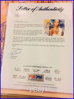 Whitney Houston Signed Album Full Signature PSA/DNA